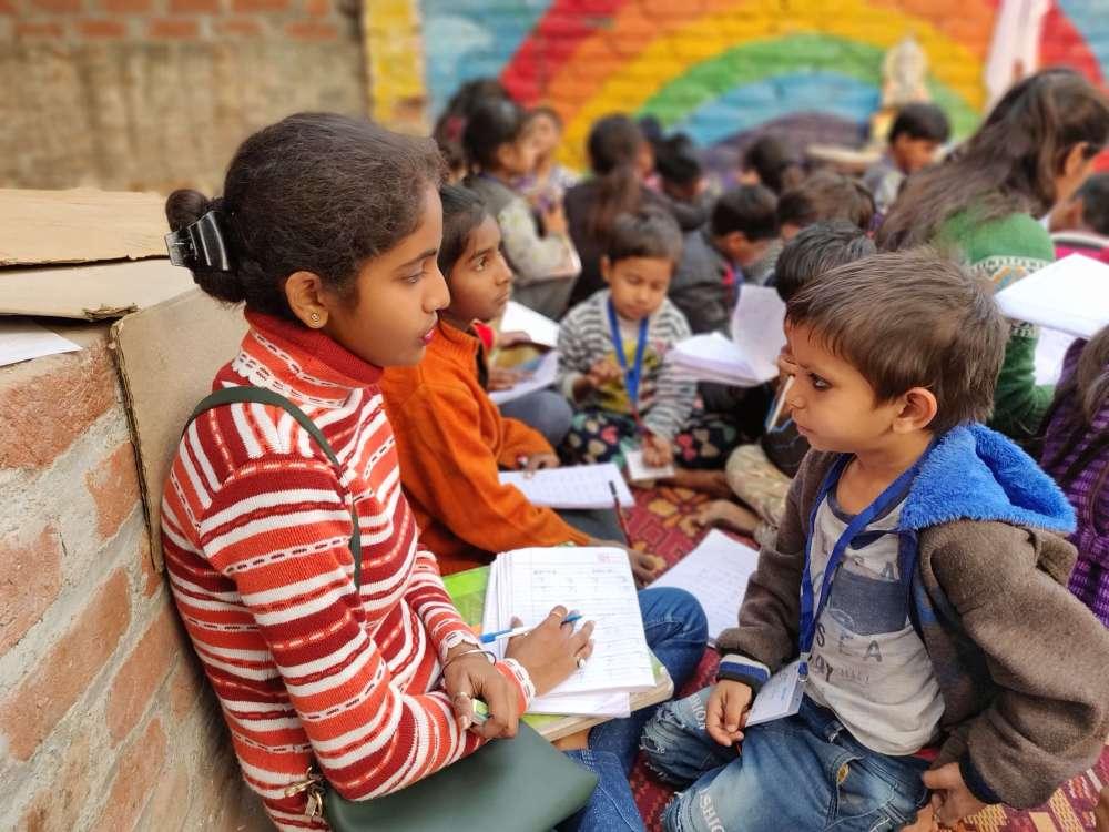Pehchaan The Street School- Volunteer teaching
